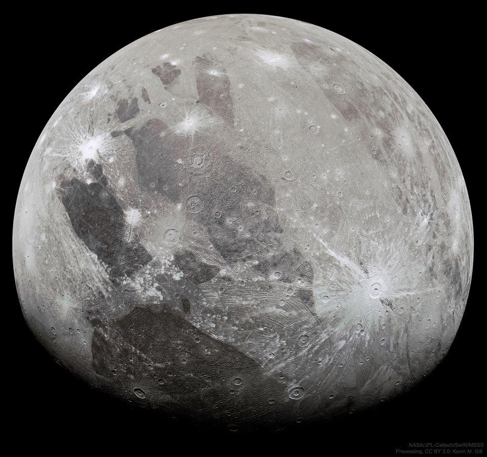 Ganymede din Juno