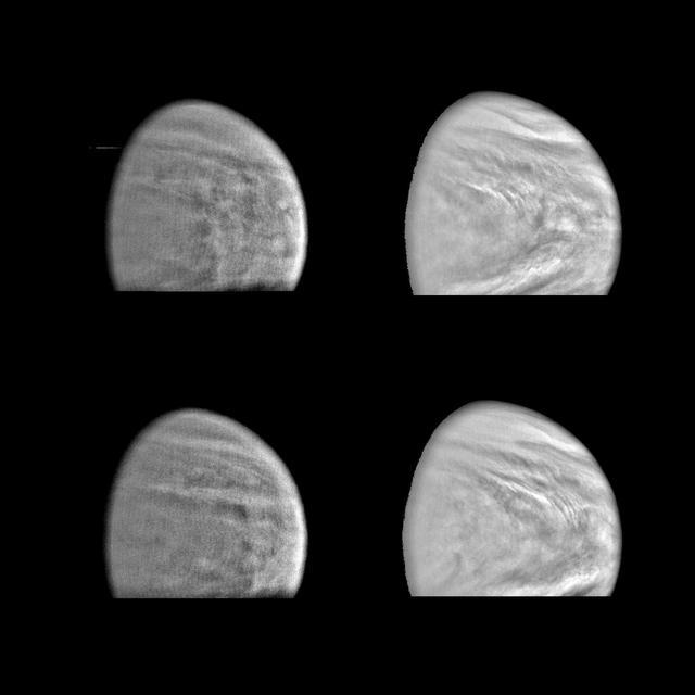 Venus în lumină violetă și aproape infraroșie
