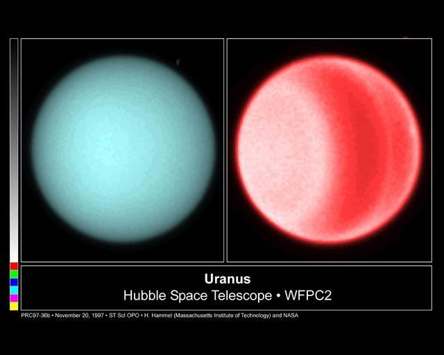 Hubble observă norii emisferici nordici pe Uranus