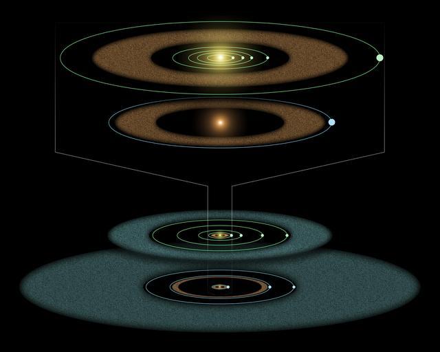 Tânăr sistem solar în conceptul Making Artist