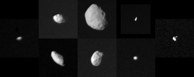 Colajul Sateliților mai mici ai lui Saturn