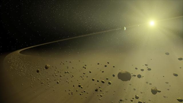Un concept de artist la distanță a sistemului solar