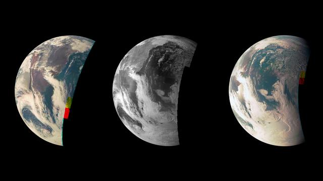 Triptic pământesc de la NASA Juno Spacecraft