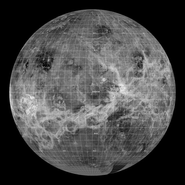 Venus – Vizualizare globală centrată la 180 de grade