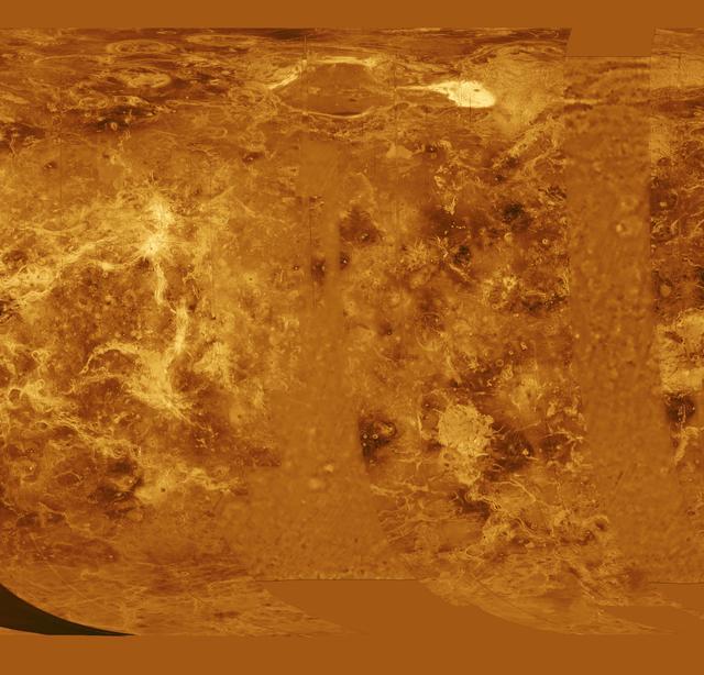 Venus – Harta cilindrică simplă a jumătății de vest a suprafeței