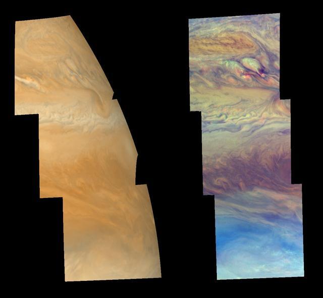 Caracteristicile norului la nord de Ecuatorul Jupiter
